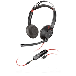 207586-01_R2 - Poly Blackwire 5220 - 5200 Series - headset - on-ear - wired - 3.5 mm jack, USB-C 207586-01_R2